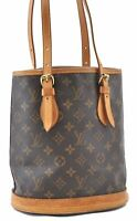 Authentic Louis Vuitton Monogram Bucket PM Shoulder Bag M42238 LV A9208