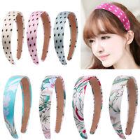 Women Floral Polka Dot Wide Headband Hair Band Hair Hoop Hair Accessories Ladies
