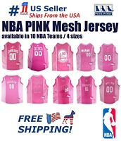 NBA Pink Pet Jersey. 10 Licensed Basketball Teams, 4 Sizes. Mesh/Satin Dog Shirt