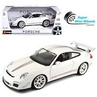 Bburago 1:18 Porsche 911 GT3 RS 4.0 (White) Diecast Model