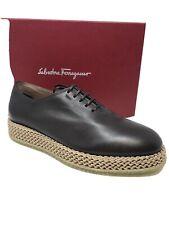 $795 New Salvatore Ferragamo Mens Brown Shoes Sneakers  Avord 6.5 US 5.5 UK 39.5