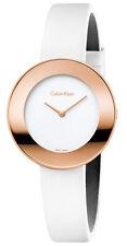 ck Calvin Klein Chic K7N236K2  Damen Armbanduhr Leder weiß neu