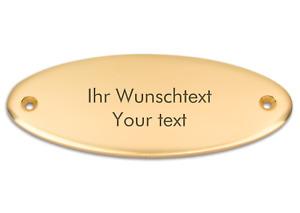 Klingelschild aus Messing mit Ihrer Gravur, Türschild, Namensschild, 115 x 45 mm