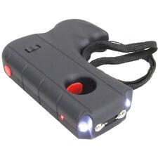 DEFENDER 10 Million Volt Rechargeable Pistol Grip STUN GUN w/ Light & Holster