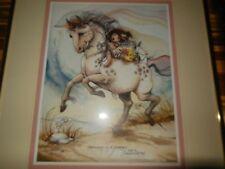 Jody Bergsma Framed Lithograph Signed Ltd Children Unicorn
