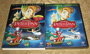 Peter Pan DVD 2007 2-Disc Set, Platinum Edition Authentic New Sealed Movie OOP
