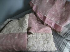 Cocalo Baby Daniella Crib Skirt Dust Ruffle & Quilt Pink Brown Ivory