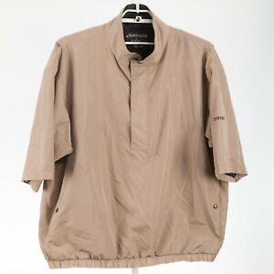 DryJoy by FootJoy Beige 1/2 Zip Pullover Men's Wind Rain Shirt Size 2XL