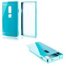 Parachoques De Aluminio 2 pizas con Tapa Azul para ONEPLUS Two 2 A2003 Funda