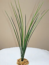 """Artificial Aquarium PLANT w/ STONE BASE 13"""" SM Tall SPIKE WEED (color options)"""