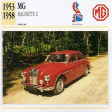 1953-1958 MG MAGNETTE Z Classic Car Photograph / Information Maxi Card