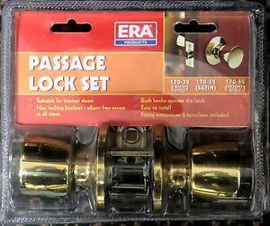 ERA 170-32 Brass Door Passage Knob Set