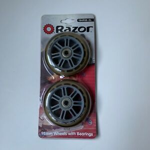 Razor 98MM Scooter Replacement Wheels With Bearings Clear/Gray 134932-CL
