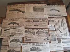 Antique Vintage Original 1882 Hunting Shooting Print Ad Lot Guns Rifles Gear 18