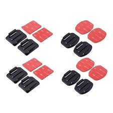 8 supporti adesivi 4 piatti e 4 curvi adesivo 3M per GoPro Sj4000 Pro cam SJCAM