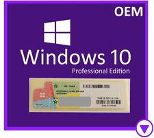 Microsoft Windows 10 Pro 32/64-bit Operating System OEM Sticker 100% Authentic