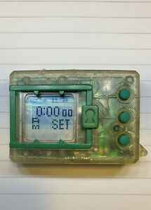 RARE Bandai Digimon 1997 Transparent Clear With Green