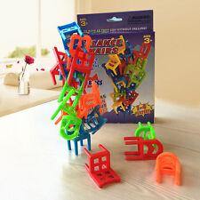 18PCS  Desktop Balance Chairs Learning Toy Stacking Game Kids Family Fun Gift