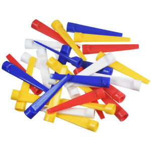 100pcs Golf Plastic Tee Strong Wedge Tees 70mm Flat Unbreakable Mixed Color