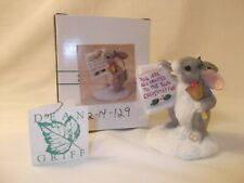 """""""Town Crier� Charming Tails rabbit with bell figurine Nib"""
