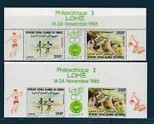 Comores république  tryptique Philexafrique 1985   poste aérienne D et ND  **