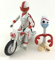 Toy Story 4 Pull N' Go Duke Caboom Motorcycle Forky Toy 3pc Mattel Disney Pixar