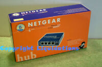 New Netgear EN104 TP UK 4 Port 10Base-T Ethernet Network Hub with AC Adapter PSU