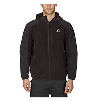 Reebok Men's Hybrid Softshell Fleece Hooded Jacket Black, Blue or Grey