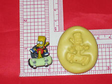 Bart Simpson Silicone Push Mold A583 Cake Chocolate Resin Clay Fondnat Craft