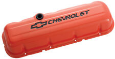Proform 141-787 Big Block Chevy Stamped Steel Tall Orange Valve Covers - Pair