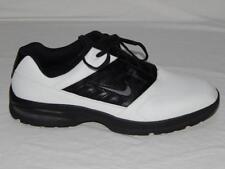 NIKE Men's Black White Color-block Swoosh Logo 312358-101 Golf Shoes Size 11.5