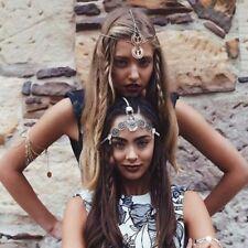 Hair Forehead Head Chain Retro Band Bohemian Dance Drop Jewelry Headpiece Women