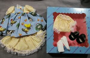 """Vintage Madame Alexander Clothes - 8"""" Wendy Goes to the Farm Full Outfit in Box"""