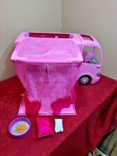 Vintage Mattel Barbie 2008 Pink RV Camper Van Pop Out Vacation Glamour