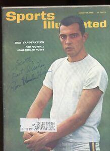RON VANDERKELLEN DECEASED WISCONSIN BADGER SPORTS ILLUSTRATED signed autographed