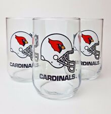 Arizona Cardinals Set of 3 NFL Rounded Tumbler Beverage Drinking Glasses