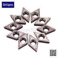 10X Wendeschneidplatten DCMT11T304 VP15TF Wendeplatte Drehmeißel für Alu Stahl