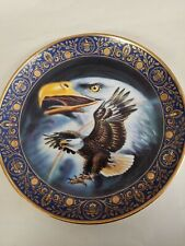 """Royal Doulton 8"""" Eagle Collectors Plate~ Profile of Freedom ~ Franklin Mint"""