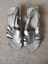 Natrelle ladies grey wedged sandals size 8