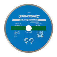 Silverline 993035 Tile Cutting Diamond Blade 180 x 22.2mm Continuous