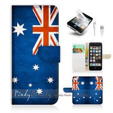 ( For iPhone 5 / 5S / SE ) Wallet Case Cover! Australia OZ Flag P0012