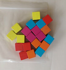 A new set of 24 plastic 25mm cubes 4 each of 6 colours Counting Cubes