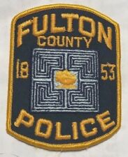 """vintage """"FULTON COUNTY POLICE"""" PATCH ga GEORGIA LAW ENFORCEMENT OFFICER awesome"""