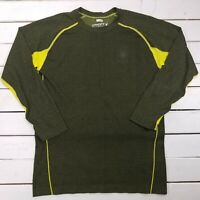 Spyder Snowboard Ski Base Layer Shirt Boys XL Yellow Honey Comb Long Sleeve L126