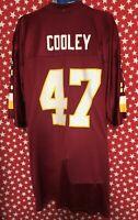 Reebok Men's Washington Redskins #47 Cooley NFL On Field Jersey Size 2XL