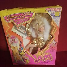 Vintage 1986 Jem And The Holograms Jem Glitter 'N Gold Jerrica Outrageous Nrfb