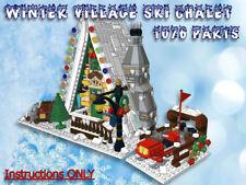 Lego Winter Village Ski Chalet -INSTRUCTIONS ONLY- fit 10216 10222 10249 etc