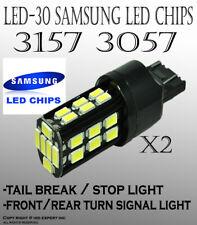 2 pc 7440 7443 Samsung 30 LED White Fit Rear Turn Signal Light Bulbs Lamp P728