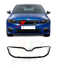 FOR SKODA OCTAVIA (5E) 13-17 NEW FRONT BUMPER UPPER GRILL GLOSS BLACK TRIM