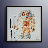 "Painting 35"", Robot 80's, handmade, modern Contemporary art by Koby Feldmos"